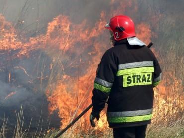 Pożar stodoły w Chotyczach
