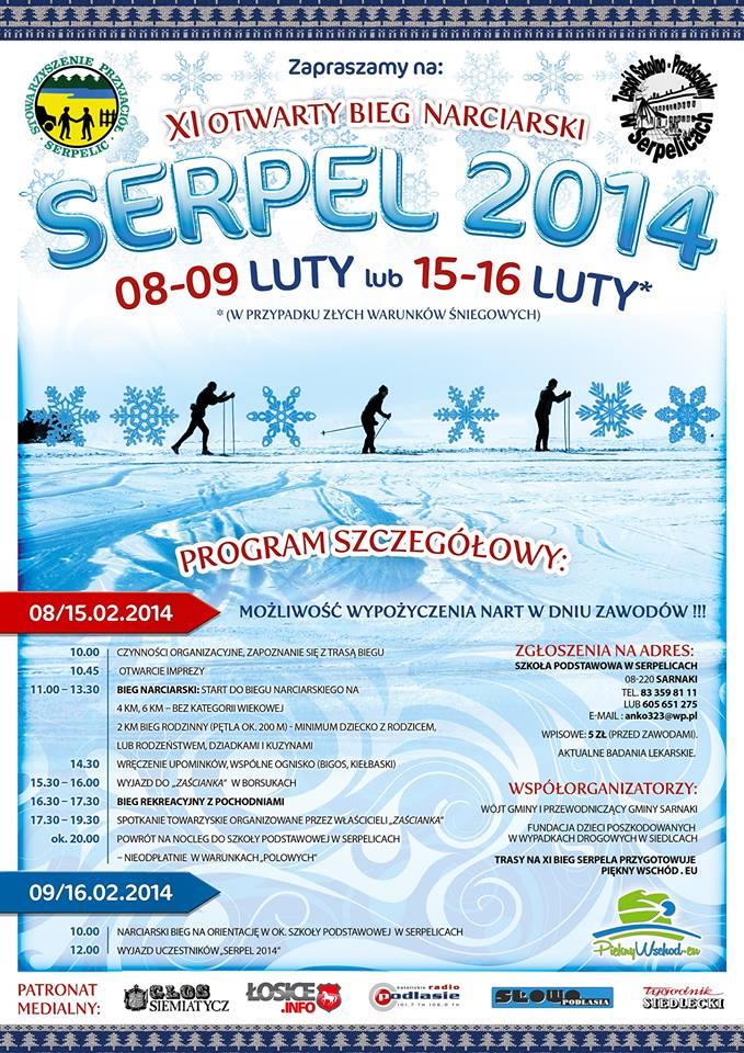 XI Otwarty Bieg Narciarski – SERPEL 2014