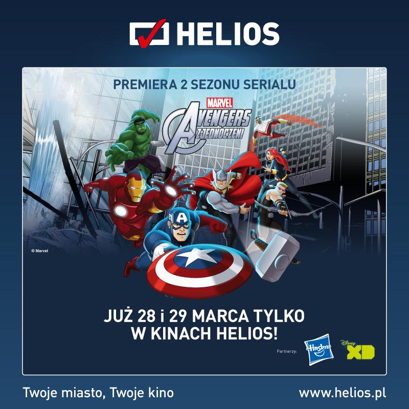 """Urodziny i premiera """"Avengers: Zjednoczeni"""" w Kinie Helios w Siedlcach – wygraj wejściówki"""