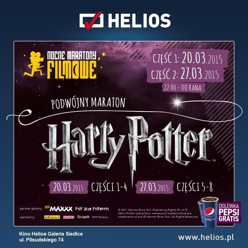Nocny Maraton Filmowy z Harrym Potterem – wygraj wejściówki