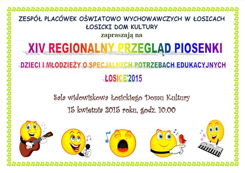 XIV Regionalny Przegląd Piosenki Dzieci i Młodzieży o specjalnych potrzebach edukacyjnych