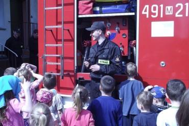 Wizyta Państwowej Straży Pożarnej w Przedszkolu Samorządowym Nr 1 w Łosicach