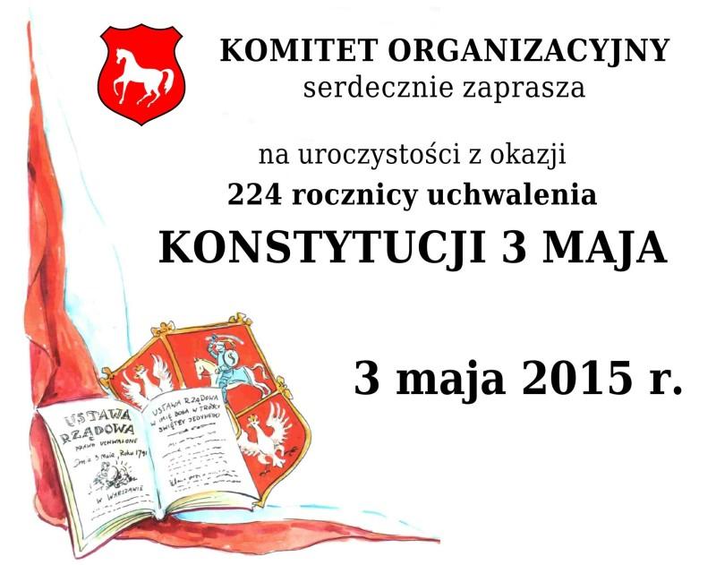 Uroczystości związane z uchwaleniem Konstytucji 3go Maja – konkursy dla mieszkańców