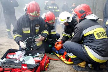 Wypadek i pożar