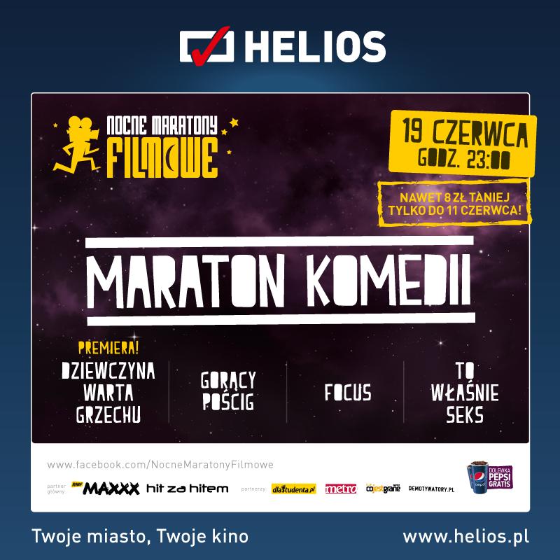 Maraton Komedii w Kinie Helios – wygraj wejściówki