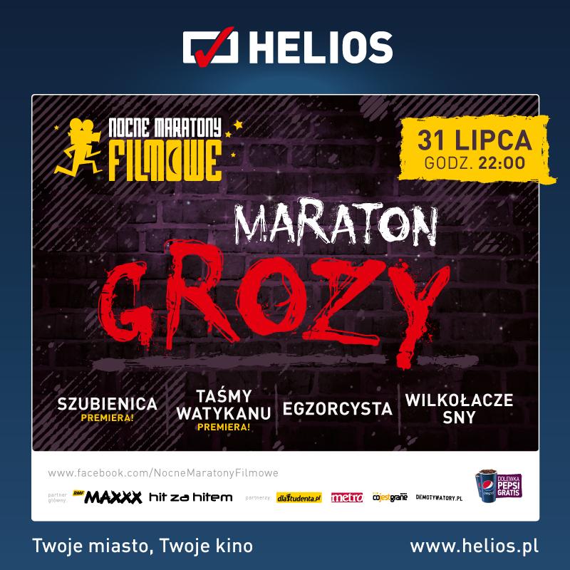 Maraton Grozy w siedleckim Heliosie – zgarnij wejściówki