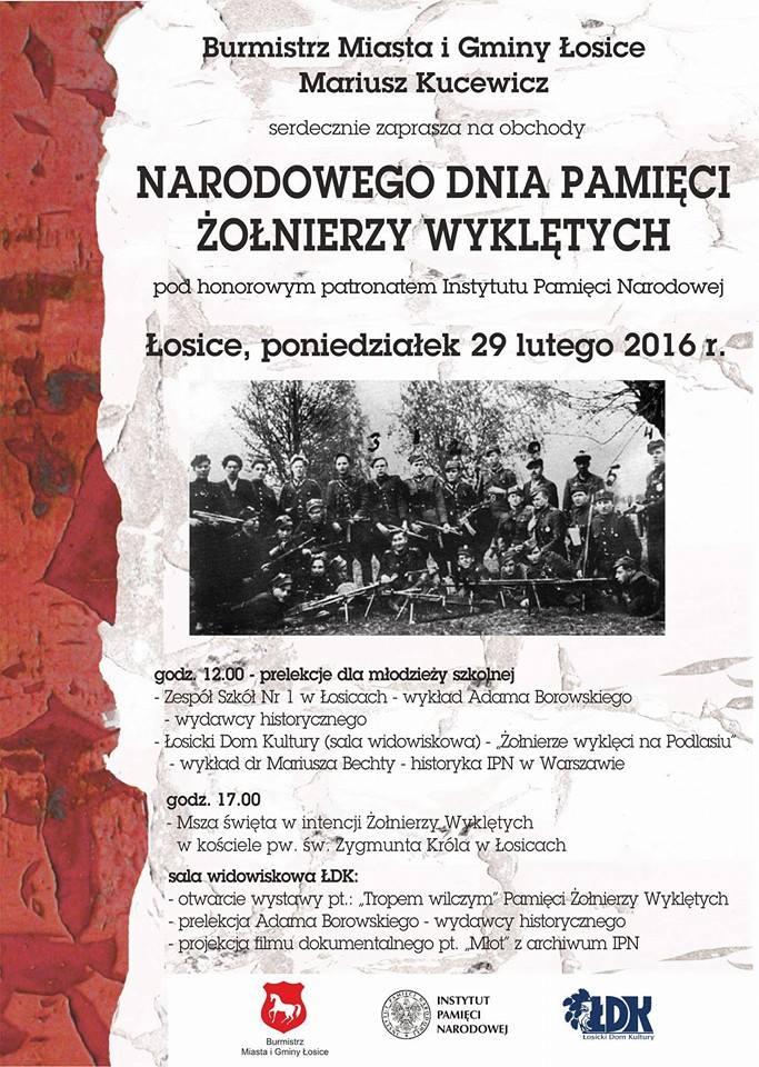 Narodowy Dzień Pamięci Żołnierzy Wyklętych w Łosicach