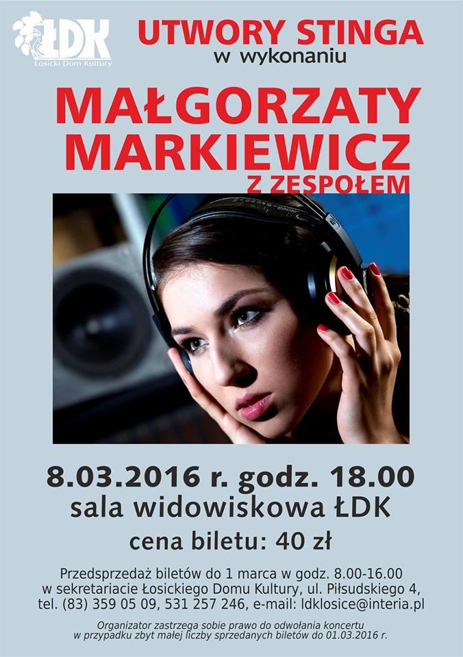 Utwory Stinga w wykonaniu Małgorzaty Markiewicz