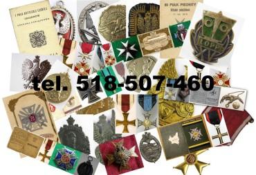 Kupię stare medale,odznaki,ordery