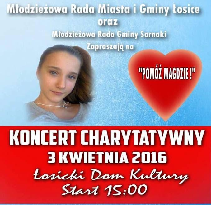 Koncert charytatywny dla Magdy