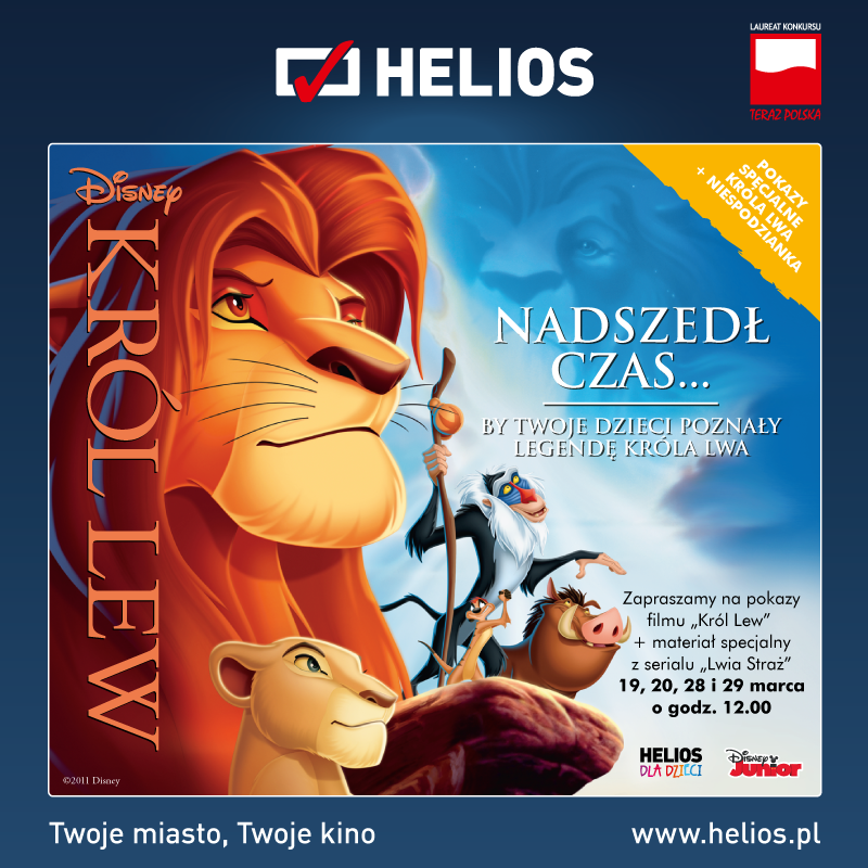 Król Lew w kinach Helios!