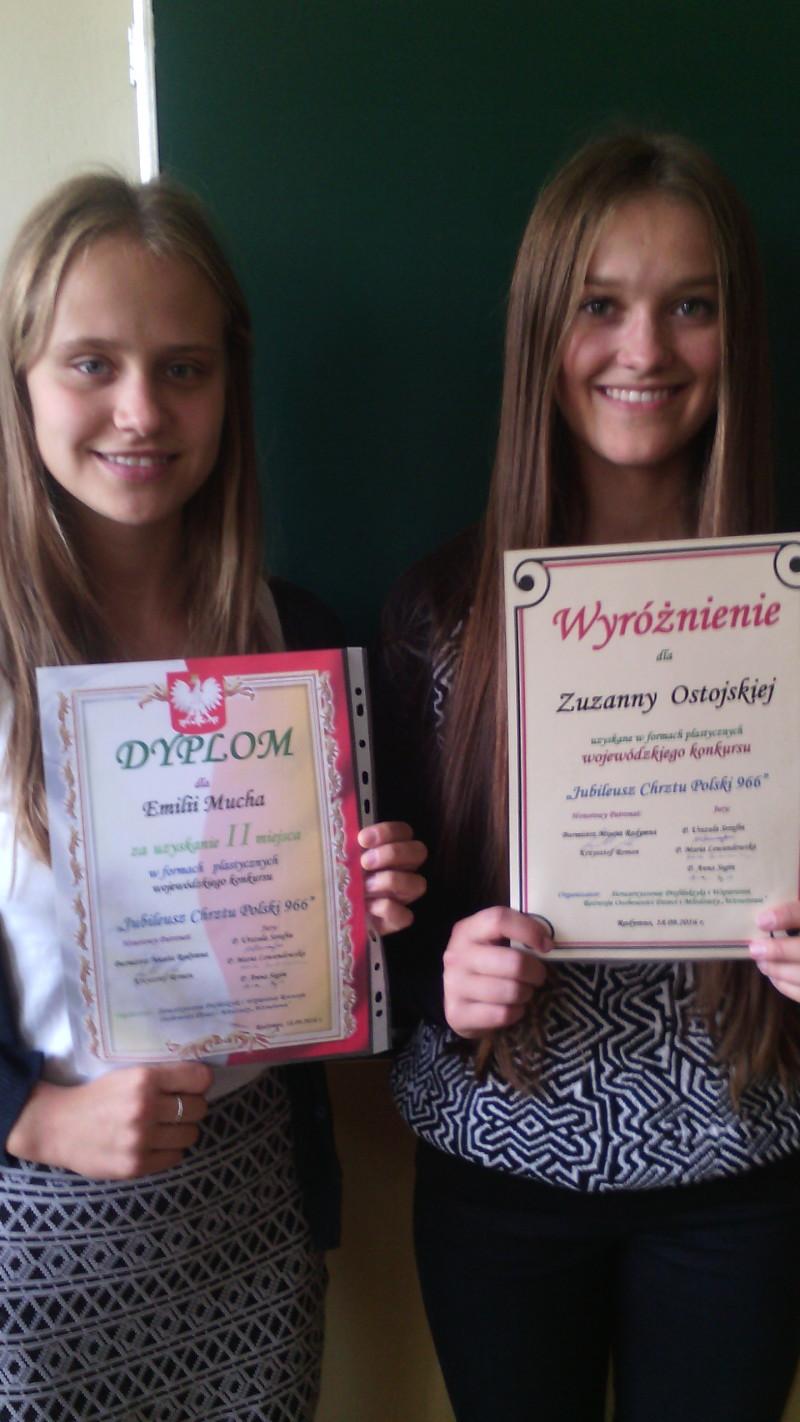 Nagrody i wyróżnienia dla naszych uczennic