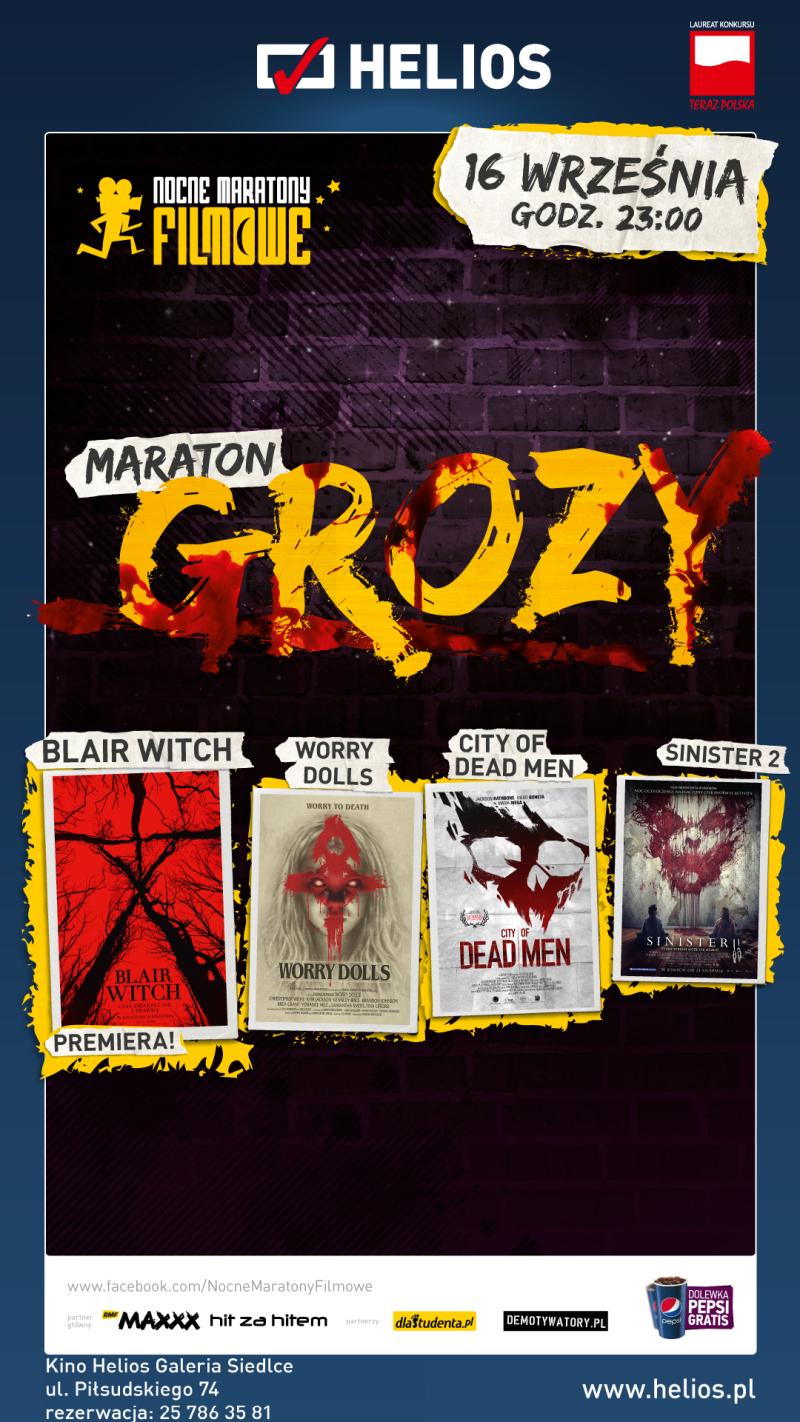 Maraton Grozy – wygraj bilety