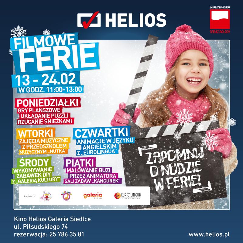 Aktywne ferie z kinem Helios