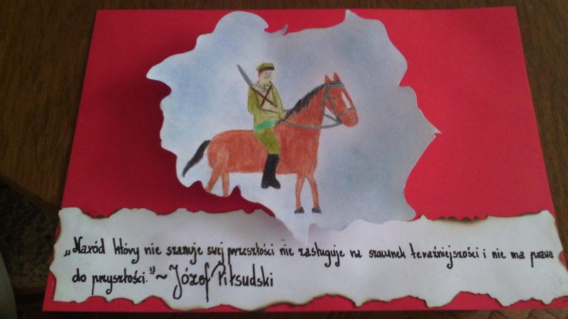 """Wyróżnione w konkursie """"Mój wzorzec patriotyzmu: Św. Brat Albert czy / i Marszałek Piłsudski?"""