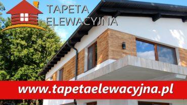 Tapeta elewacyjna – imitacja drewnianych desek na elewacji Twojego domu