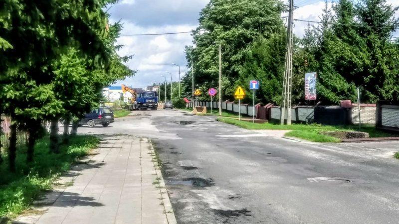Prace remontowe na ulicy Targowej