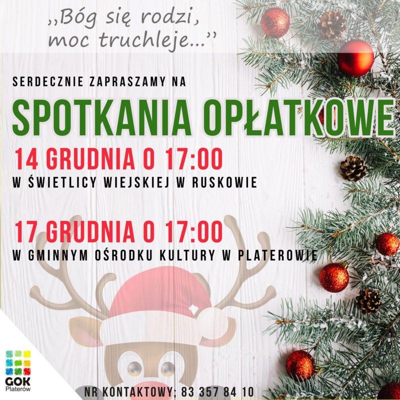 Spotkania Opłatkowe w gminie Platerów