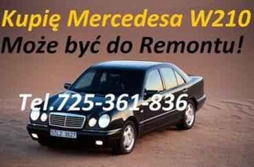 Kupię każdego Mercedesa W210 (okularnika) z silnikiem 2.9D 2.9TD 2.9TDI 2.7CDI oraz Kupie Mercedesa 124 W124 190 W201 C-klasę W202 lub W203 207 208 209 210 307 308 309 310 407 408 409 410 Sprintera 208 210 212 313 316 308 310 312 313 316 408 410 412 413 416 MB100 814 817 914 917 Skup Toyot Avensis Corollę Yaris Aygo Auris Hiace Picnic Starlet Carinę.Może być do remontu lub poprawek lakierniczych.Płacę Gotówką najlepsze Ceny!!! tel.725 361 836 Ogłoszenie zawsze Aktualne