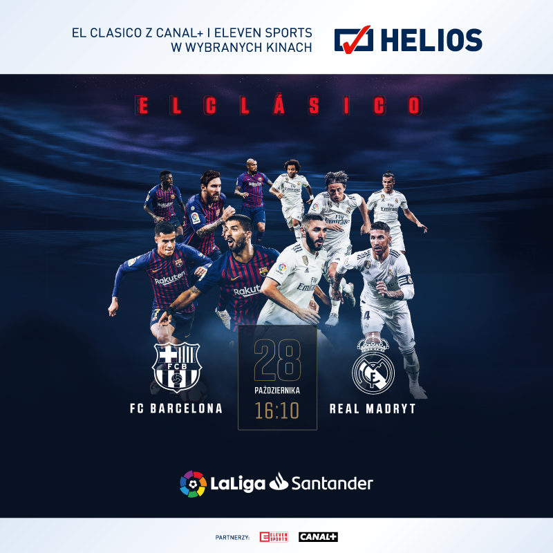 EL CLASICO FC BARCELONA – REAL MADRYT – wygraj bilety